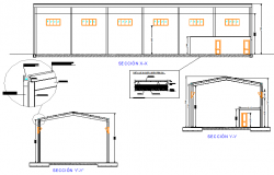 Warehouse store section detail dwg file