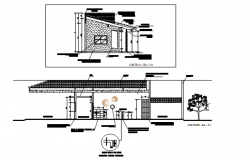 Wash room plan and elevation detail dwg file