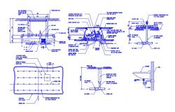 Washbasin and Drainage Design Layout AutoCAD Drawing