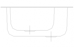Washbasin detail 2d view elevation CAD block layout dwg file
