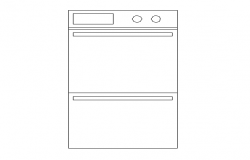 Washing machine cad block design dwg file