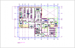 Washington office building plan dwg file