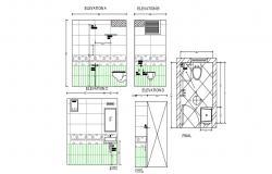 Washroom Design Plan Download CAD Drawing