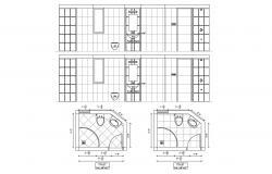 Washroom Layout Plan AutoCAD Drawing Download