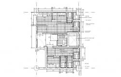 Washroom of shopping mall plan and installation details dwg file