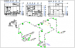 Washroom plan detail dwg file
