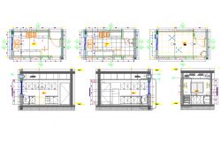 Washroom plan detail view dwg file