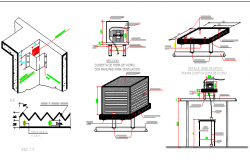 Waste Water Treatment Plant Architecture Layout dwg file