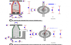 Waste water drainage details architecture project dwg file