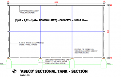 Water Tank Derail in Structure drawing