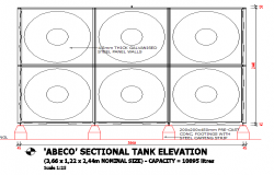 Water Tank Elevation detail