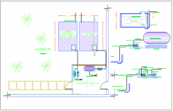 Water cistern structure and function of pumping water detail dwg file