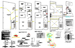 Water line house plan detail dwg file