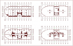 Water line pipe view with plan of commercial building dwg file
