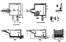 Water loading chamber water taking design drawing