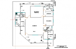 Water pipe house plan layout file