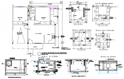 Water pipe line and Tank plan detail autocad file
