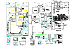 Water pipe line home plan detail dwg file