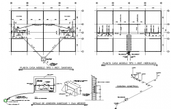 Water pipe line house plan detail autocad file