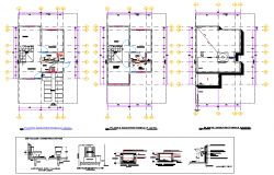 Water pipe line house plan dwg file