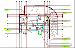 Water pipe line view plan dwg file