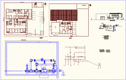 Water pipe line view with single line diagram and view of plan for health center dwg file