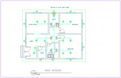 Water pipe line view with washing area dwg file