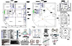 Water plumbing pipe house plan dwg file