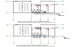 Water plumbing plan detail dwg file