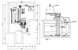 Water pump sectional details