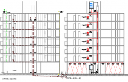 Water reservoir tank building section details dwg file