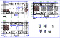 Water supply system of college plan design dwg file