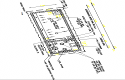 Water tank architecture project details dwg file