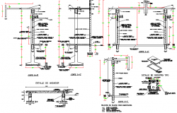 Water tank of building constructive details dwg file