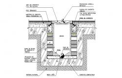 Water tank plan and constructive plumbing details dwg file