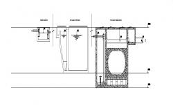 Water treatment processing plant of hospital cad drawing details dwg file