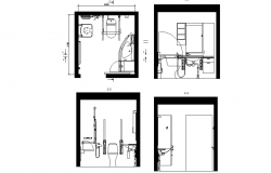 Wc  for disabled front elevation