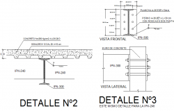Welded joint section plan detail dwg file