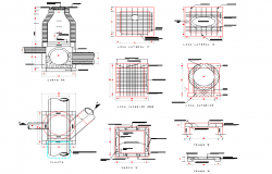 Well box pipe 76 cm autocad file