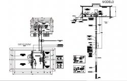Welt tubular water tank section, plumbing and auto-cad details dwg file