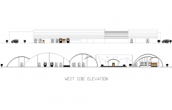 West elevation Industrial plan detail dwg file