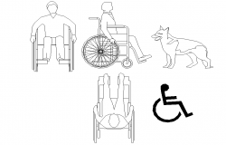 Wheelchair elevation layout file