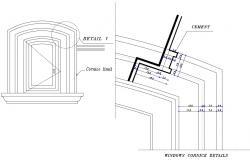 Window Cornice Detail DWG File
