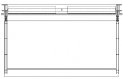 Window Frame Elevation dwg file
