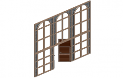 Window and door design combination in 3d