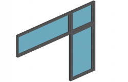 Window design view in 3d
