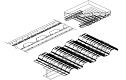 Window installation details of house details dwg file
