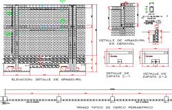 Window perimetric details dwg file