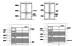 Window sectional details dwg file