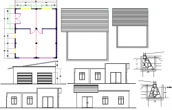Winery shop detailed architecture project dwg file